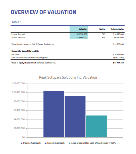 Overview of valuation - 409a valuation report