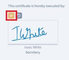 executor signature