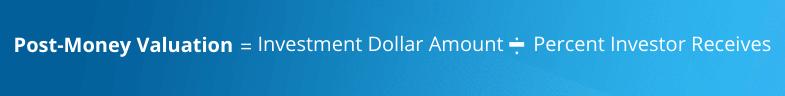 Post money valuation