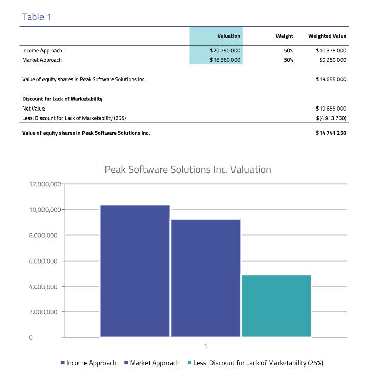 Peak Software - 409a valuation sample