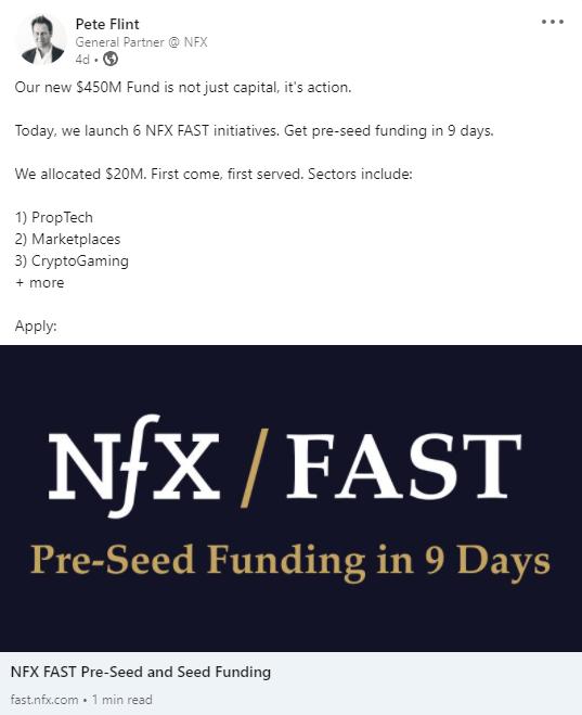 NFX Fast - Pete Flint