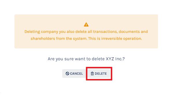 Company Profile Delete