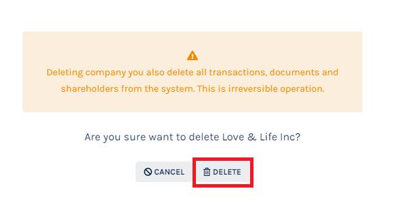 Delete Company Profile