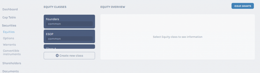 Equity overview
