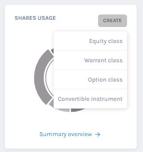 Share usage options