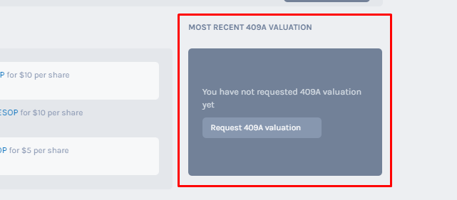 Request for a 409A Valuation