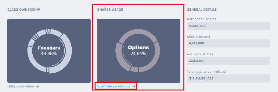 Authorized Shares Usage