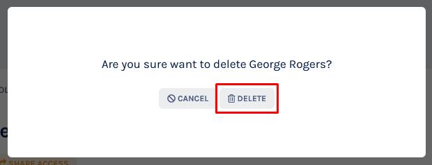 delete shareholder profile