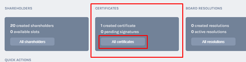 All Certificates